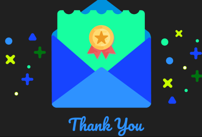 Sweet Thank You Card Vector-min