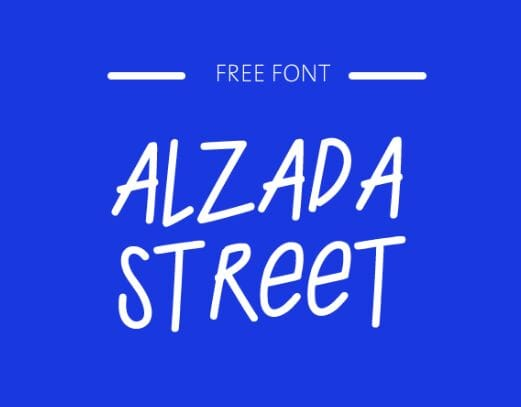 ALZADA STREET Handwritten Typeface-min