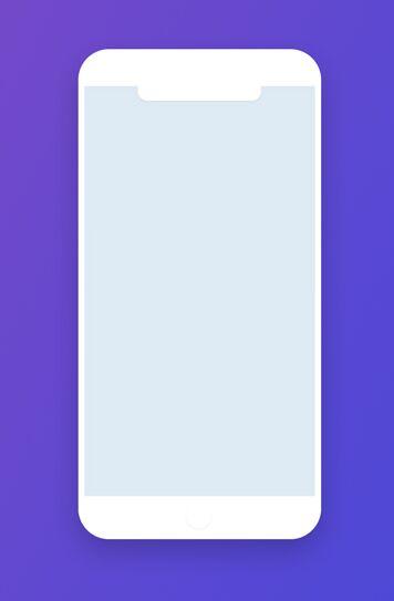 Minimalist Flat iPhone X Mockup PSD-min