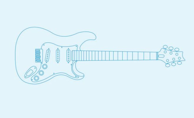 Paul Reed Smith Silver Sky Electric Guitar Vector-min