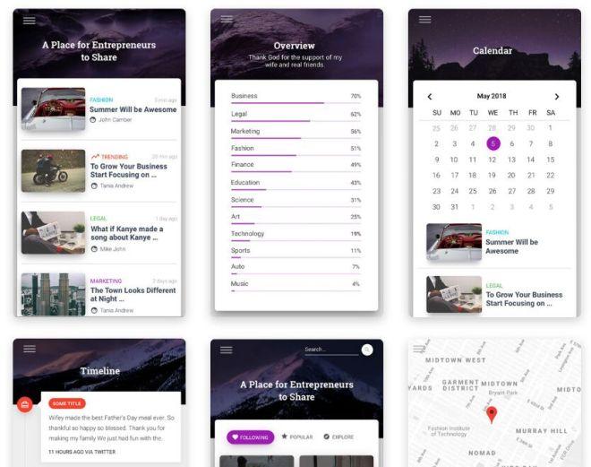 Material Design Mobile UI For Sketch-min