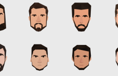8 Men Avatar Icons Vector-min