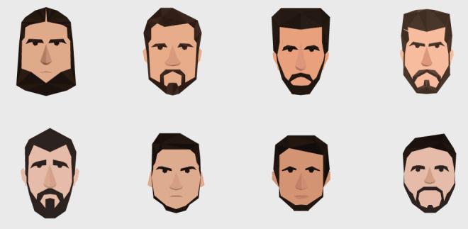 8 Men Avatar Icons Vector-min