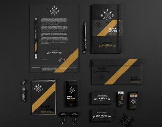 Black Branding Mockup Based On Real Photos-min