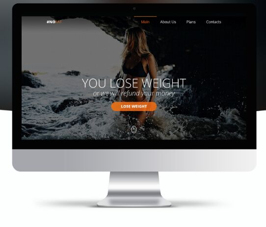 Clean Fitness Landing Page Template PSD-min