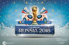 2018 FIFA World Cup Russia Flyer PSD Template-min