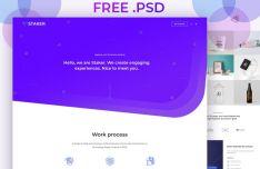 Modern Portfolio Web Template PSD-min