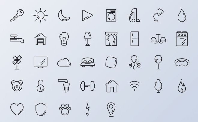 36+ Home Routine Vector Icons-min