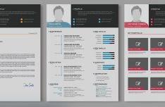 Modern Resume Templates In 3 Colors-min
