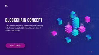 Blockchain Landing Page PSD Template-min