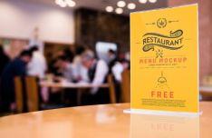 Realistic Restaurant Menu PSD Mockup-min