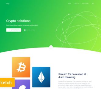 Crypto Landing Page Sketch Template-min