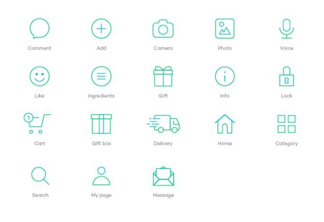 18 Shopping App Line Icons Vector-min