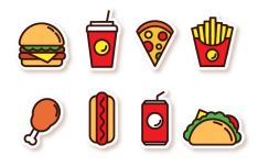 8 Fast Food SVG Icons-min