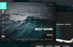 Surf Online Store Template For Sketch