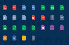 25 Minimal Flat File Format Vector Icons