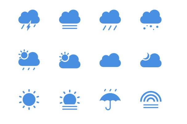 12 Minimal Weather Icons For Sketch-min