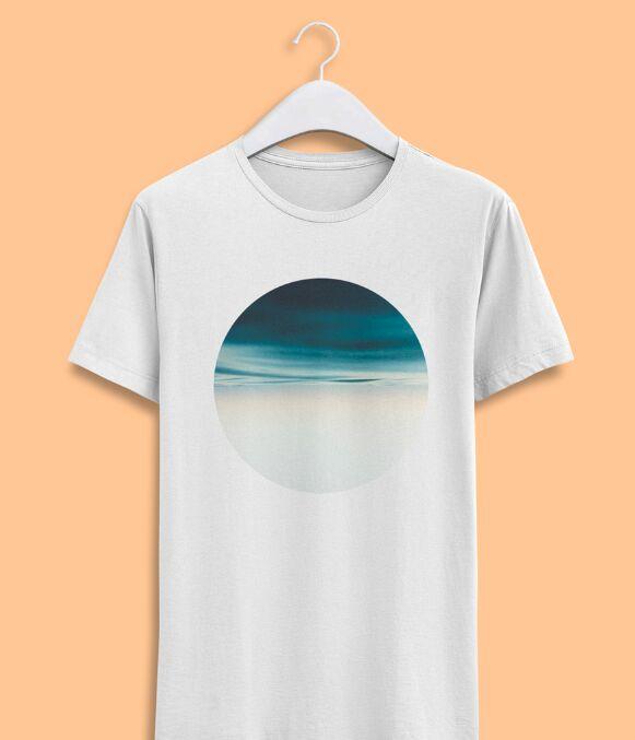 Realistic Men T-shirt Front View PSD Mockup-min