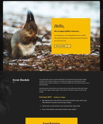 Conference Landing Page PSD Template-min
