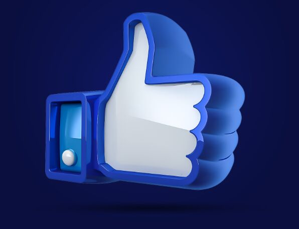 3D Facebook Like Button PSD-min