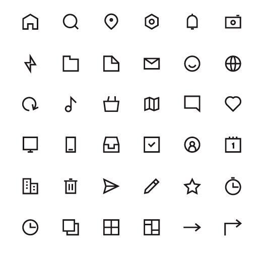 36 Minimal UI Icons EPS-min