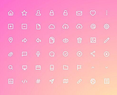 48 Bold Line UI Icons (AI+Sketch)-min