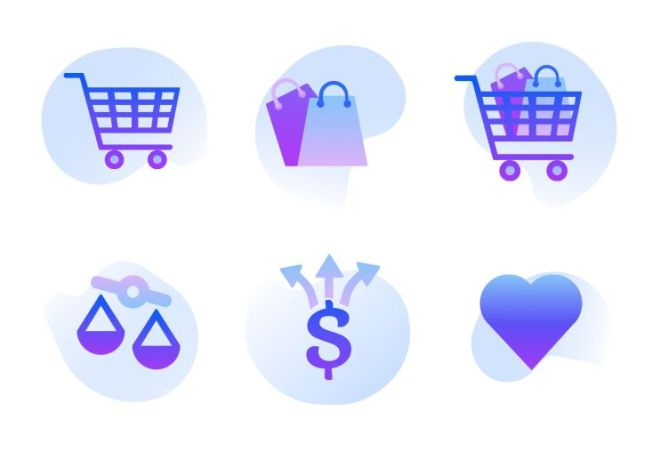 6 Creative Shopping SVG Icons