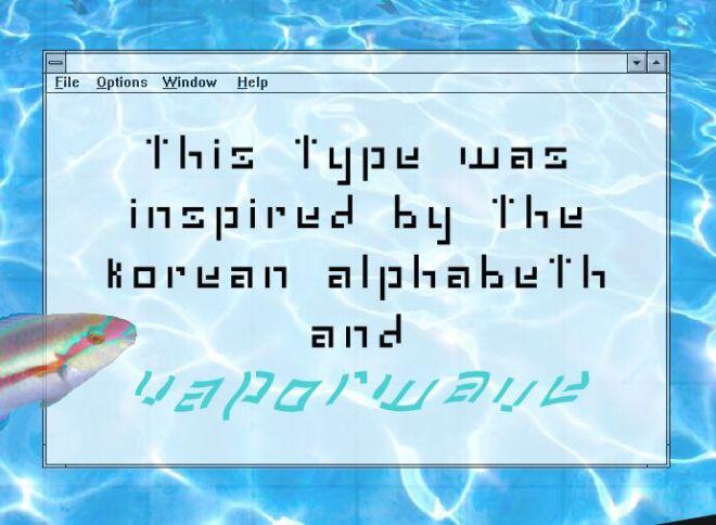 Cyber Hangul Font-min
