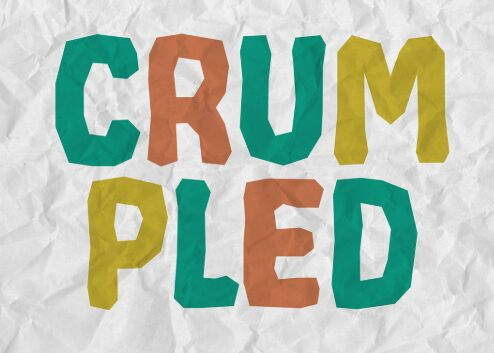 CRUMPLED Lovely Font