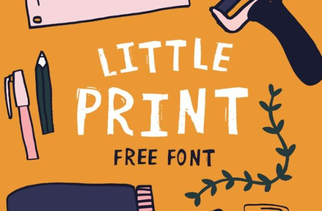 Little Print Hand-painted Typeface