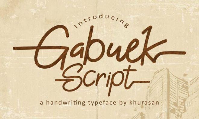 Gabuek Script Handwriting Typeface