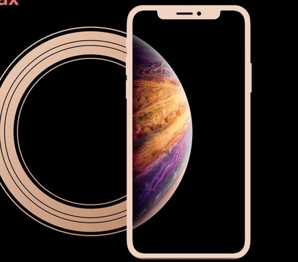 Flat iPhone Xs Max Mockup PSD