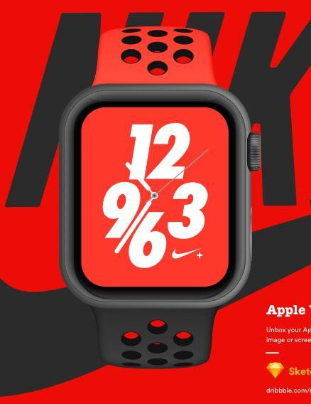 Apple Watch Nike+ Mockup For Sketch