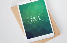 iPad Pro On Deskp PSD Mockup