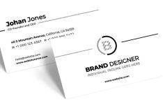 Dead Simple Light Business Card Design PSD