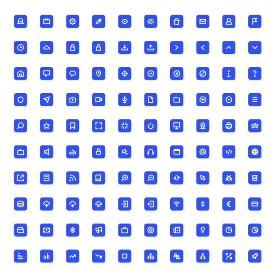 100 Rounded UI Icons For Illustrator