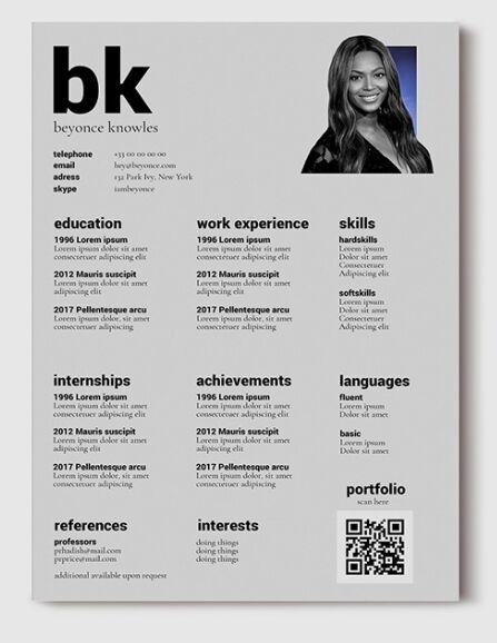 Minimal Resume & Cover Letter PSD Mockups