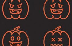 Sweet Halloween Pumpkin Vector Icons