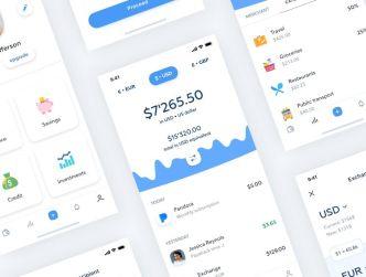 Clean Bank Mobile App Design Sketch
