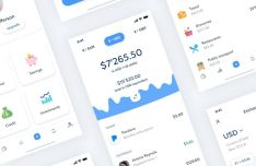 Clean Bank Mobile App Design Sketch