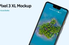 Floating Pixel 3 XL Mockup For Sketch