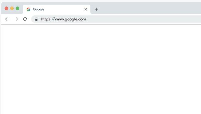 Google Chrome Browser 2018 Vector Mockup