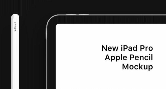 iPad Pro & Apple Pencil 2018 Mockup (Sketch+XD)