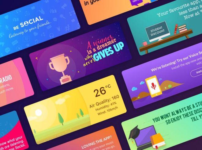 Modern Web Banner Mockups For Sketch
