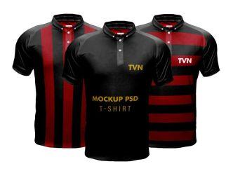 Men's Sports T-shirt PSD Mockup