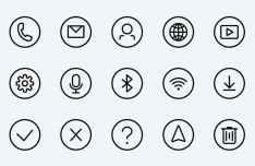 25 Circular Vector UI Icons