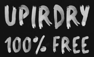 UPIRDRY Water Brush Typeface