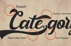 Glitter Vintage Typeface