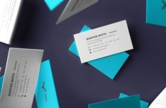 6 Realistic Print-ready Business Card Mockups PSD