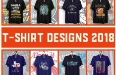 T-Shirt Design 2018 PSD
